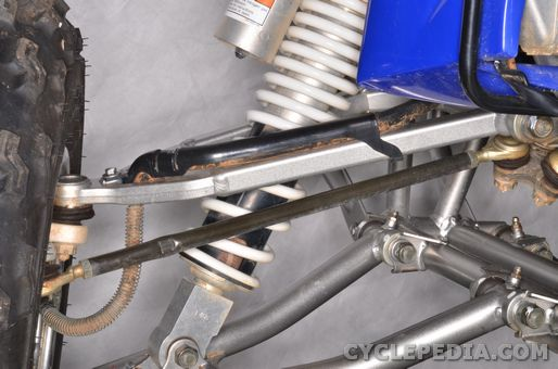 yamaha yfz450 steering tie-rod toe-in alignment adjustment