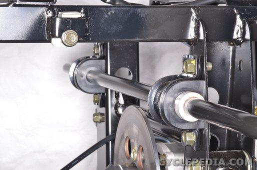 kymco uxv700 rear suspension shock absorber sway bar