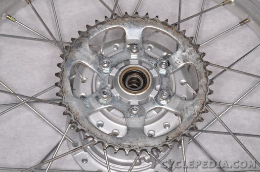 yamaha xt225 serow chain sprockets countershaft rear final drive