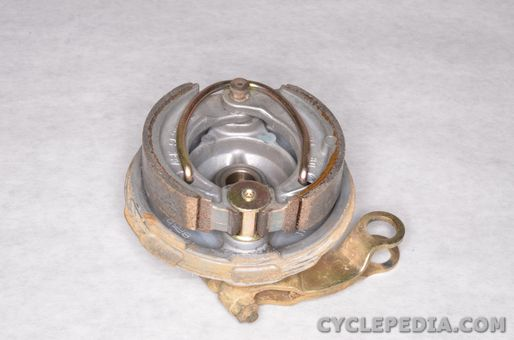 yamaha tt-r50 rear drum brake shoes pedal adjustment free play