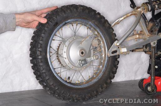 yamaha tt-r90 front wheel rear bearings axle