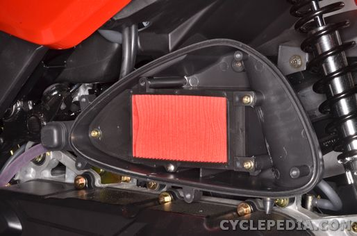 kymco super 8 150 125 50 4t scooter oil change valve clearance inspection air filter service kymco super 8 scooter online service manual cyclepedia Kymco Super 8 150 Review at gsmportal.co
