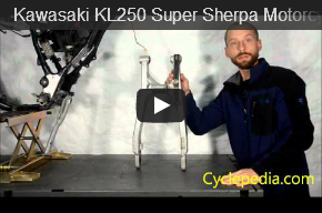 Kawasaki KL250 Super Sherpa Motorcycle Chain Guide Inspection