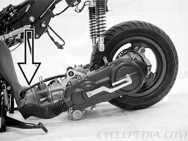 kymco yager dink 200i and 125 scooter online service manual engine removal kymco yager dink 200i and 125 scooter