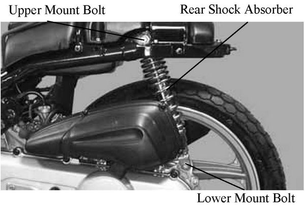 kymco people 50 rear wheel shock absorber brake