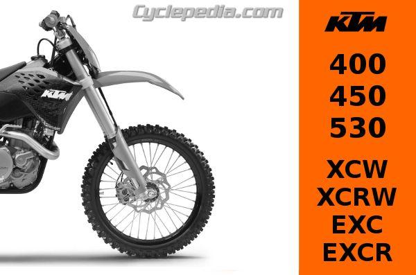 ktm 400 450 530 xcw xcrw exc and excr repair manual cyclepedia rh cyclepedia com ktm 450 exc service manual 2005 ktm 450 exc service manual