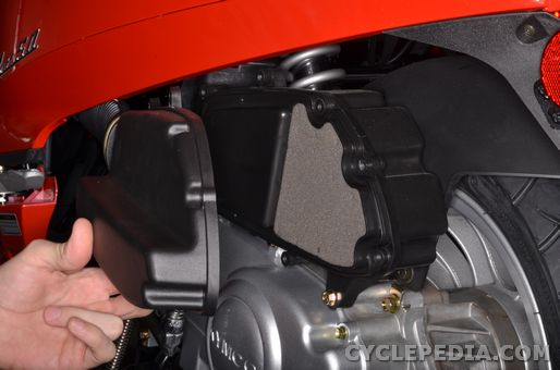 kymco like 50 scooter periodic maintenance air filter change adjustment