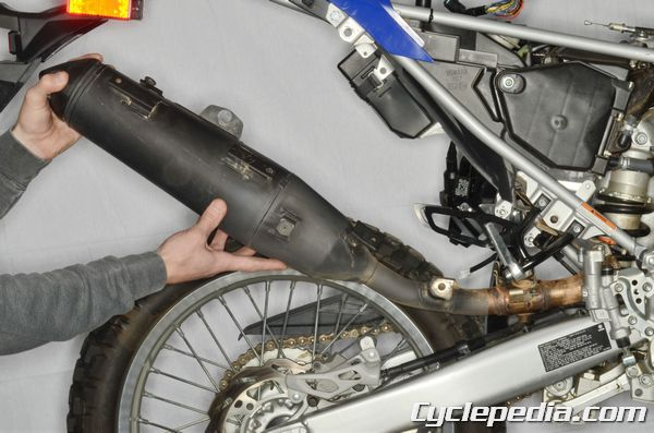 Yamaha WR250R WR250X Exhaust System Removal