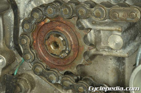 Kawasaki KLX140 chain countershaft sprocket rear sprocket inspection replacement worn teeth