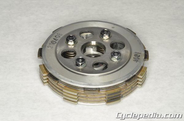 Kawasaki KLX140 clutch plates inspection replacement steel disc warp friction material thickness
