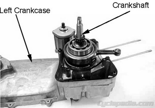 Crankcase Crankshaft KYMCO People S 250 Cyclepedia Repair Manual