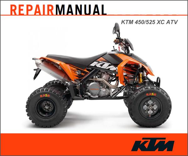 Ktm 2008-2011 450  525 Xc Atv Repair Manual