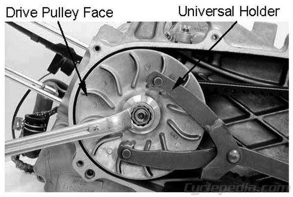 Driven Drive Pulley CVT KYMCO People S 250 Cyclepedia Repair Manual