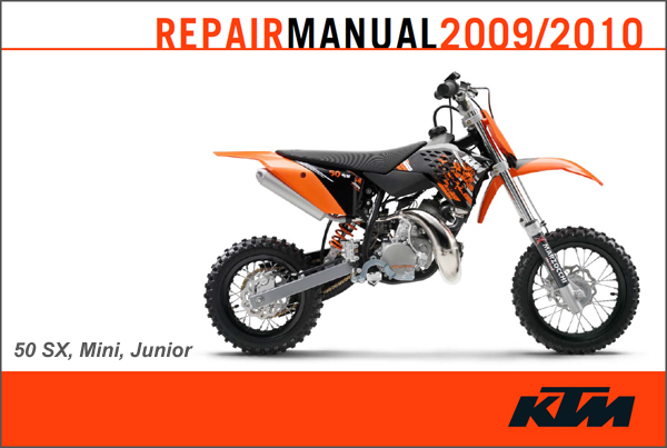 ktm 2009 2010 50 sx sx mini sx junior repair manual cyclepedia rh cyclepedia com ktm sx 50 service manual 2006 ktm 50 sx service manual