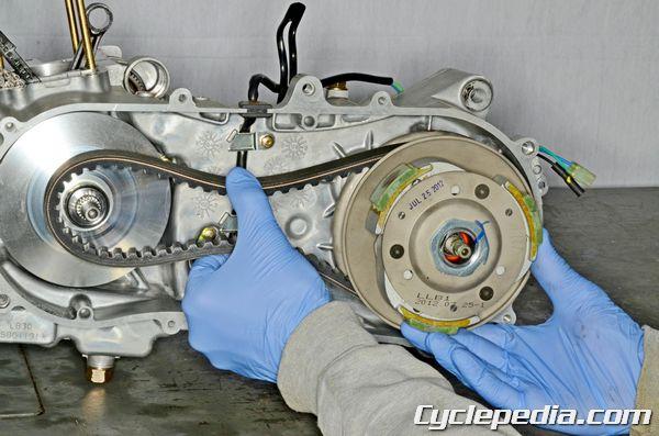 kymco MXU 150 CVT drive pulley driven pulley clutch belt variator