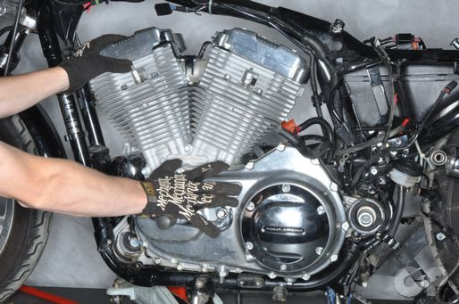 Harley-Davidson motorcycle engine removal and installation