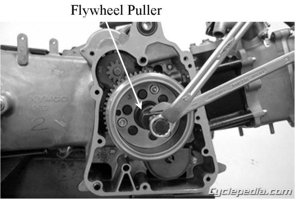 KYMCO Bet & Win 250 Flywheel Removal