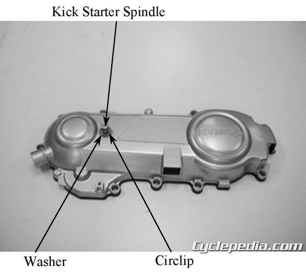 KYMCO Super 9 50 Service Manual CVT drive belt cover clutch pulley