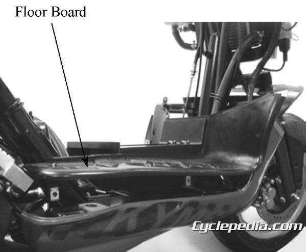 KYMCO Super 9 50 floor board and body cover removal and installation