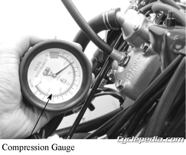 KYMCO Super 9 50 Service Manual Maintenance Chart Compression Test