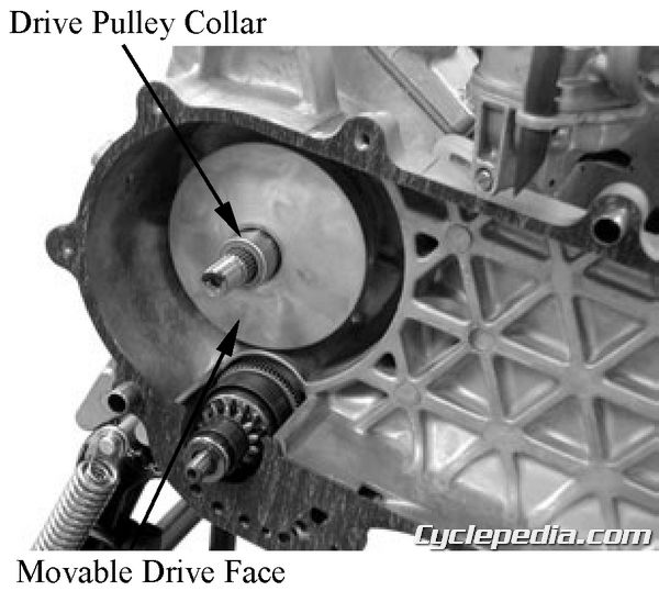 KYMCO Vitality 50 2-4T Scooter CVT drive belt pulleys clutch variator