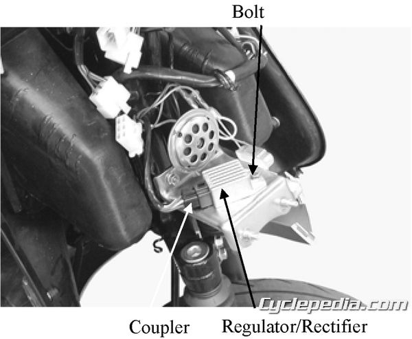 KYMCO ZX 50 and Sting 50 starter motor charging system regulator rectifier