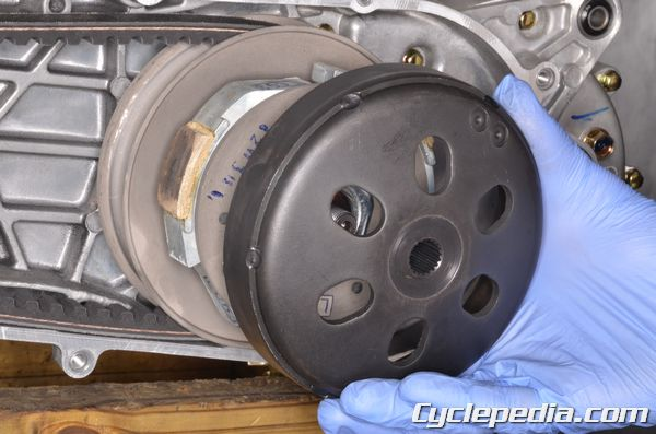 kymco Agility 125 cvt belt case removal installation inspection pulley clutch