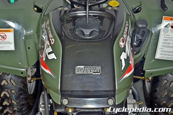 KYMCO MXU300 Front Fender cargo racks fuel tank cover remove