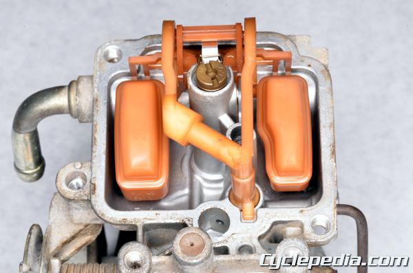 DR350SE Carburetor cleaning jets rebuild assembly float height needle valve