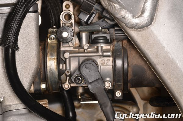 Suzuki RM-Z 250 fuel injection throttle body