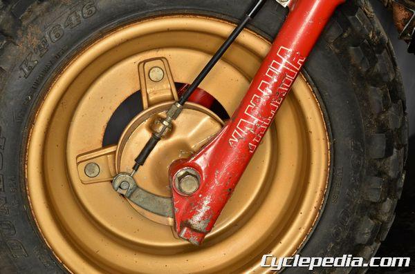 Yamaha BW PW 80 front brake cable free play periodic maintenance chart