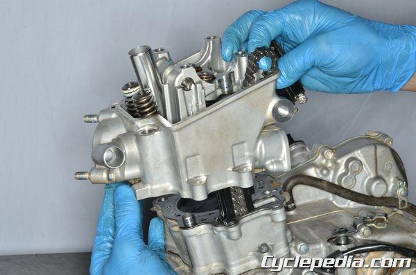 Honda 2010 crf250r cylinder head camshaft timing top end rebuild engine overhaul