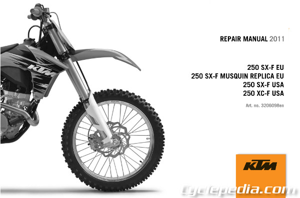 Ktm  Sxf Owners Manual
