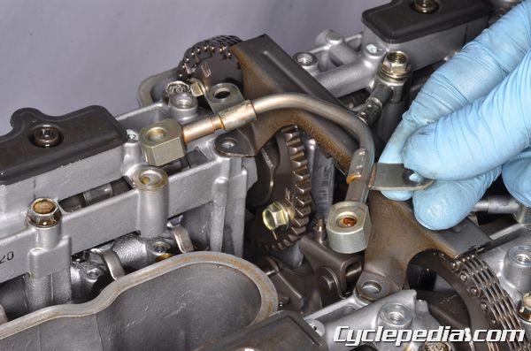 Honda CB750 Nighthawk Cylinder Head Oil Pipe Camshaft Timing