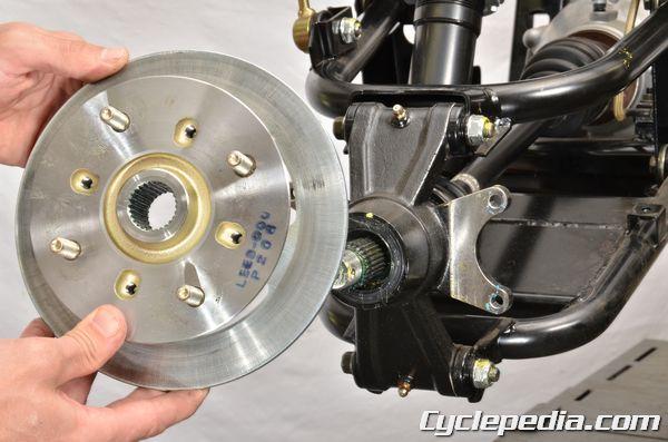 Kymco UXV450i side-by-side utility vehicle lug nut torque wheel hub removal