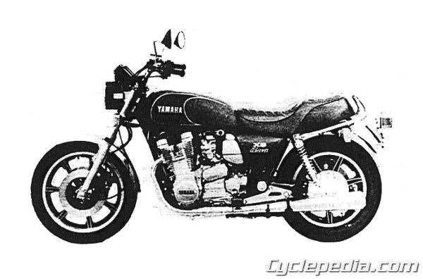1978 1981 yamaha xs1100 four cylinder online service manual cyclepedia rh cyclepedia com DR650 Wiring-Diagram Basic Turn Signal Wiring Diagram