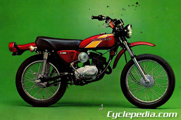KE100 1 1971 1981 kawasaki g5 ke100 motorcycle online service manual Kawasaki G5 Wiring-Diagram at fashall.co
