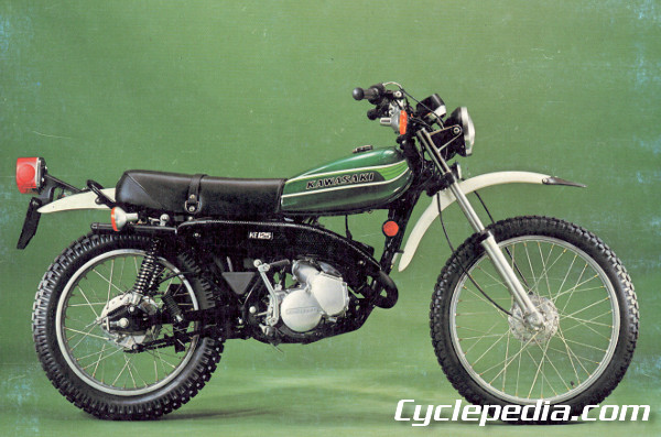 kawasaki ks125 ke125 1974 1985 motorcycle online repair manual rh cyclepedia com Kawasaki KLX 125 1979 Kawasaki KD 125