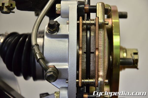 Hisun Sector 1000 Massimo Bennche Cowboy brake caliper pad inspection