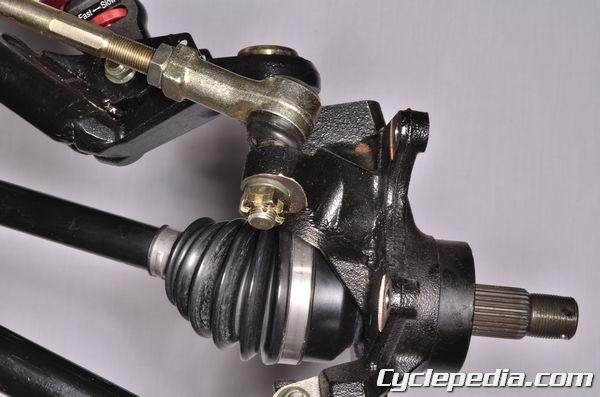 Hisun Strike 1000 Massimo Bennche Spire steering tie-rod end toe-in adjustment