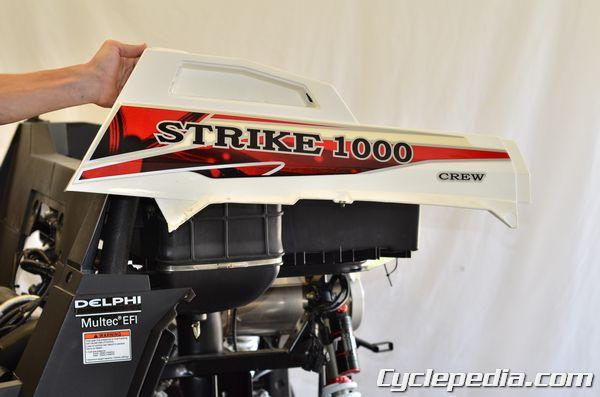 Hisun Strike 1000 Massimo Bennche Spire rear fender removal