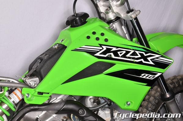 Kawasaki KLX110 front fender seat shrouds and side covers