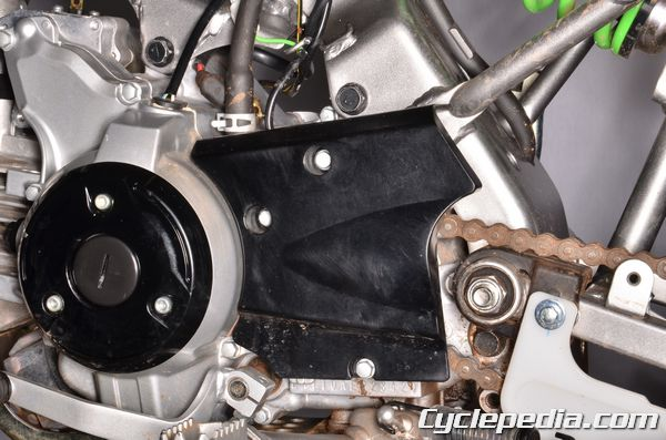 Kawasaki KLX110 engine sprocket cover chain and sprocket replacement