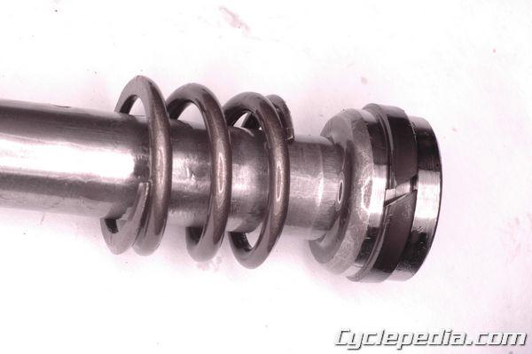 KLX110l kawasaki front fork rebuild damper rod removal seal replacement