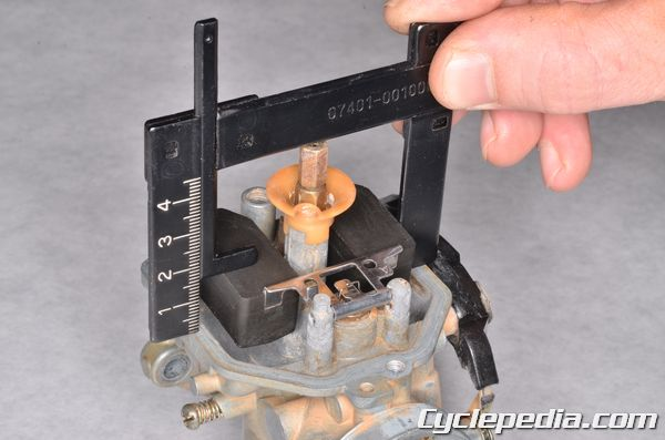XR200 carburetor float height jet size cleaning and overhaul