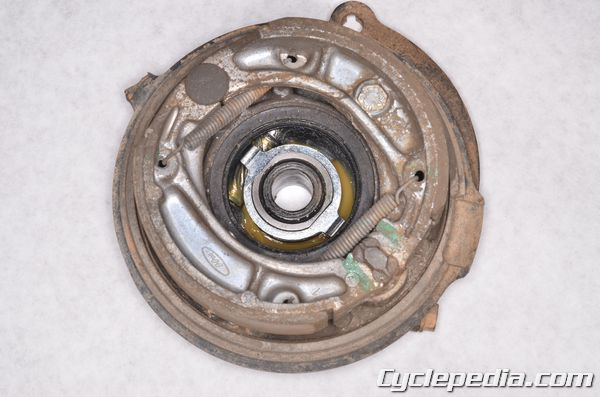 XR200 honda drum brake shoe replacement cable free play