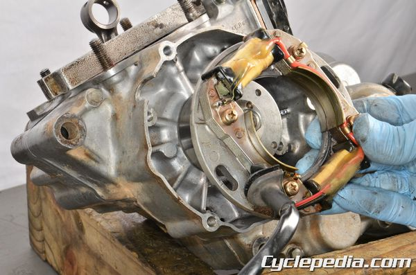 Suzuki RM80 RM85 L stator coil testing ignition spark troubleshooting