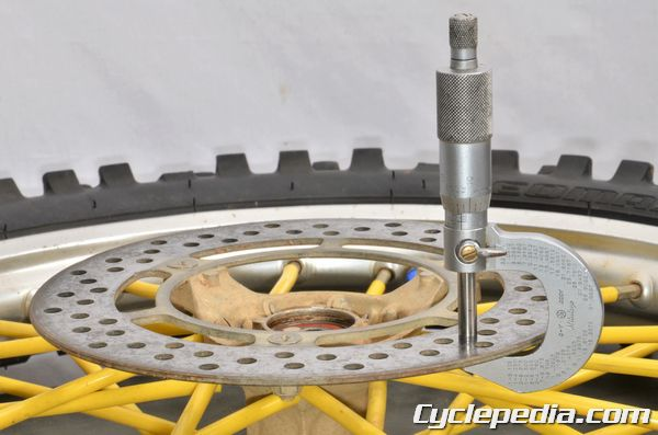 Suzuki RM80 RM85 L brake disc inspection thickness specification