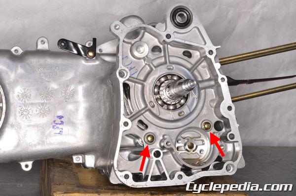 KYMCO SUPER8 150 50 R X engine crankshaft inspection crankcase splitting GY6