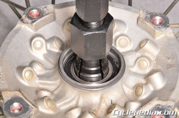Kawasaki KX250F front and rear wheel bearing inspection and replacement